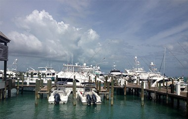 Government dock at South end, bayside in Bahamas