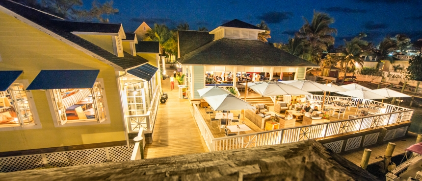 Restaurants at Valentines Resort and Marina, Bahamas